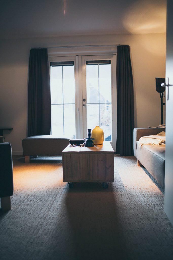 Wohnzimmer in unserem Doppelzimmer