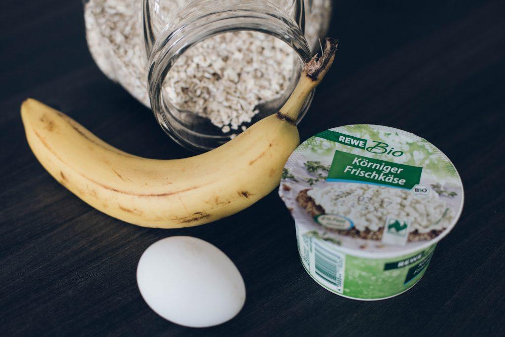 gesunde bananen pancakes