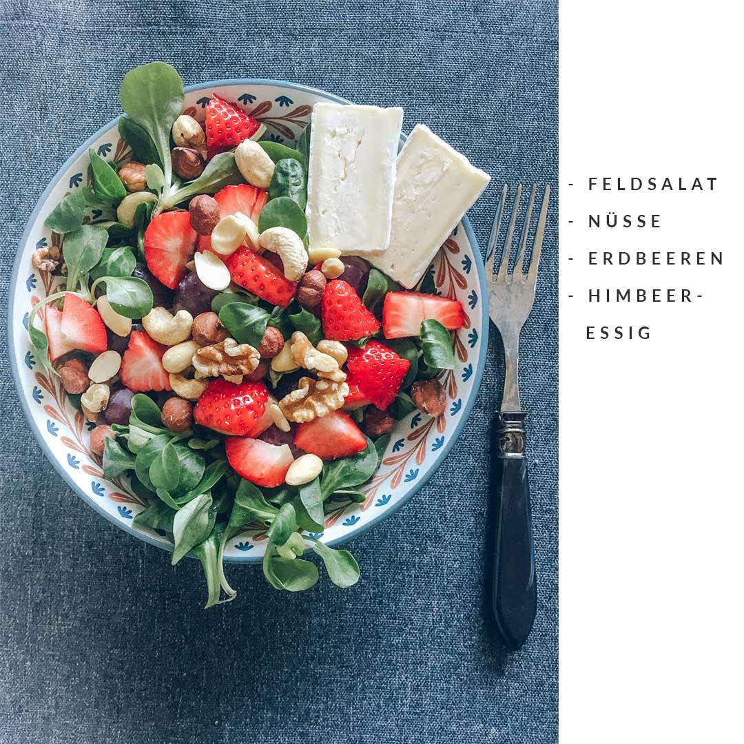 erdbeer salat ideen