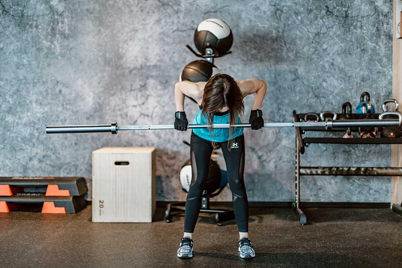 Muskelaufbau Langhantelrudern